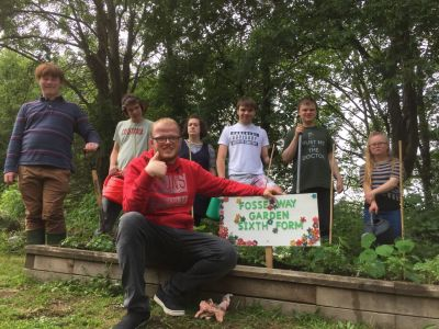 Fosseway Students Grow their own at Midsomer Norton Station